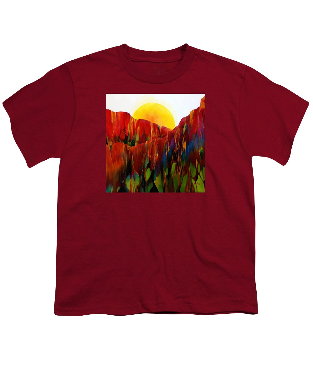 Oil Youth T-Shirt featuring the painting Living Earth by Peggy Guichu