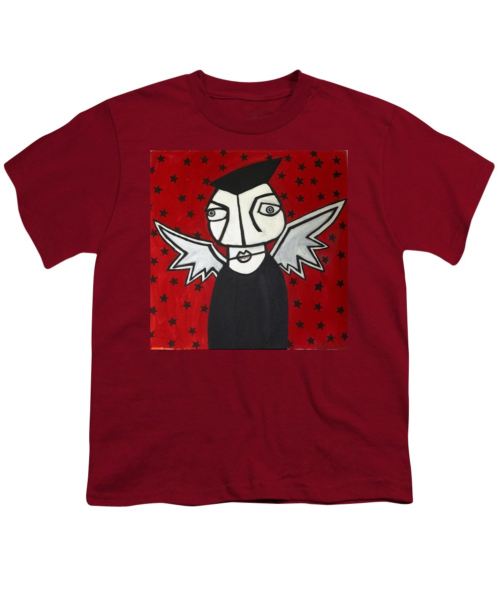 Clay Youth T-Shirt featuring the painting Mr.creepy by Thomas Valentine