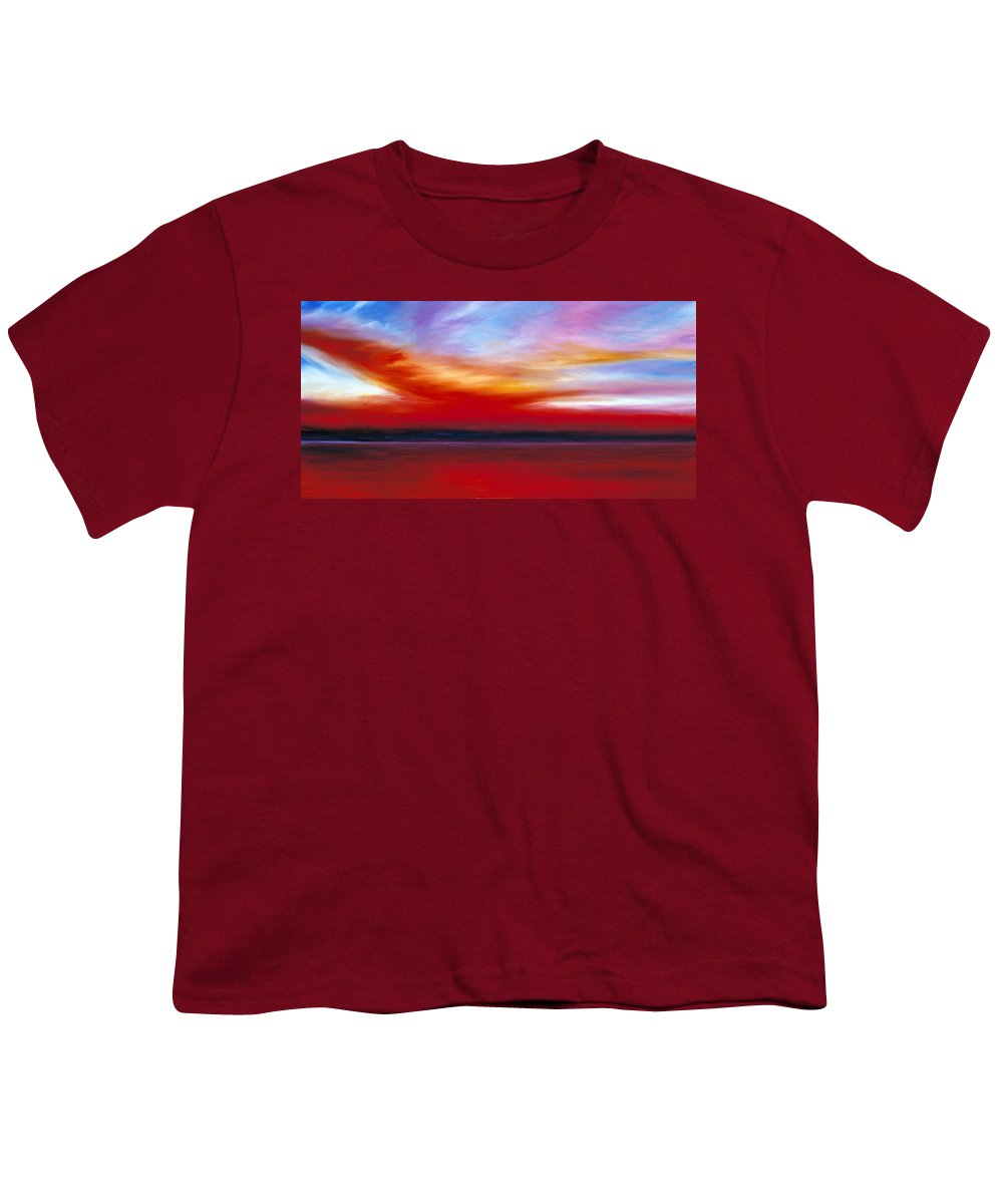 Clouds Youth T-Shirt featuring the painting October Sky by James Christopher Hill
