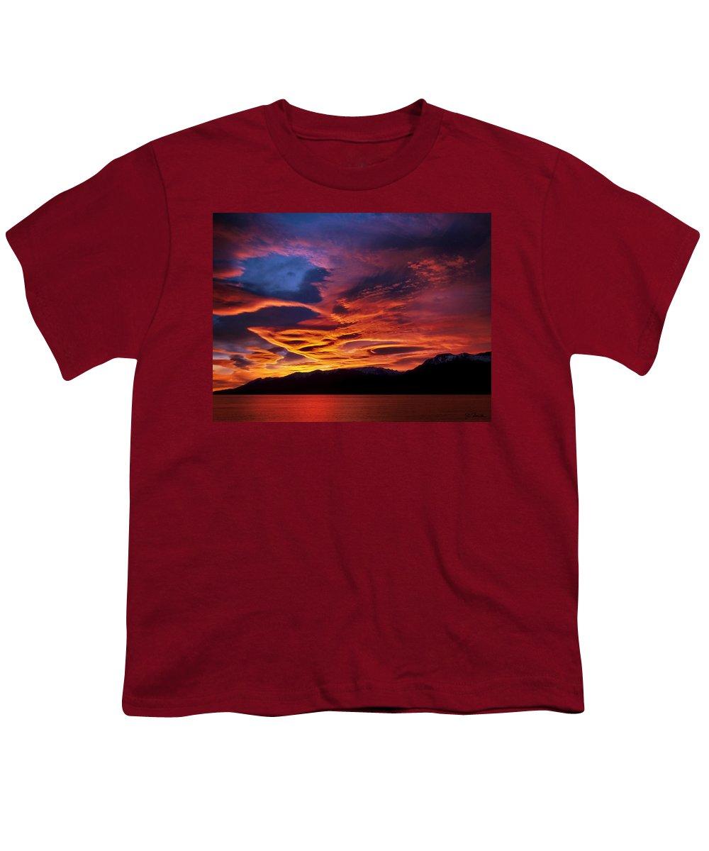Patagonia Youth T-Shirt featuring the photograph Patagonian Sunrise by Joe Bonita