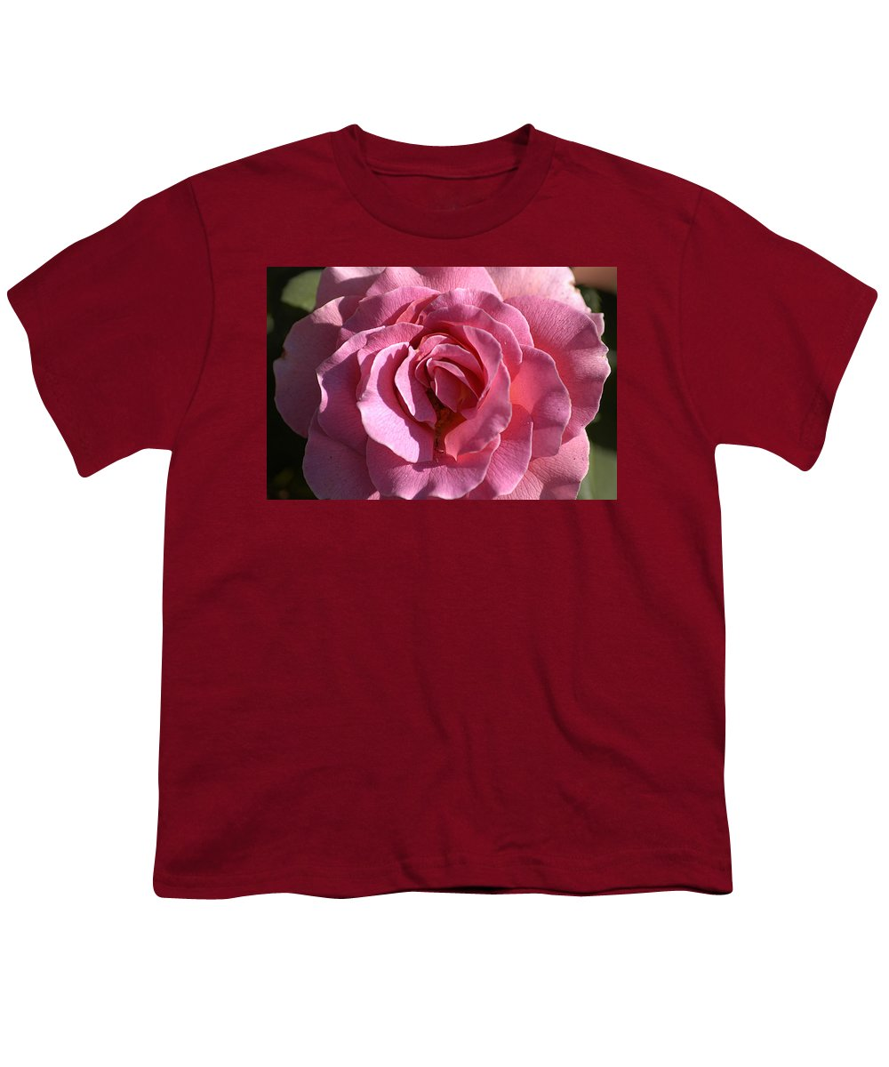 Clay Youth T-Shirt featuring the photograph Pink Rose by Clayton Bruster