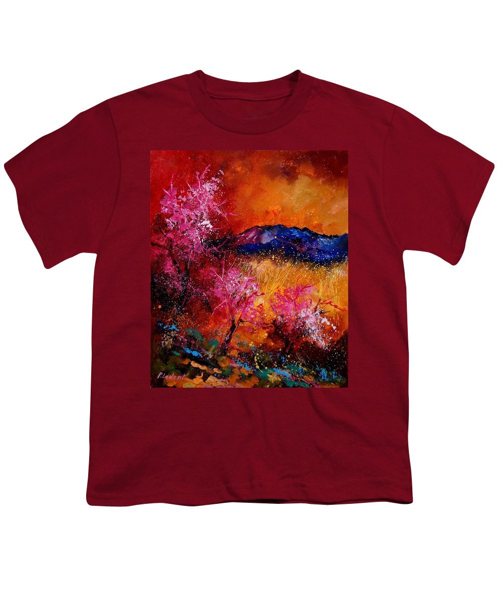 Provence Youth T-Shirt featuring the painting Provence560908 by Pol Ledent