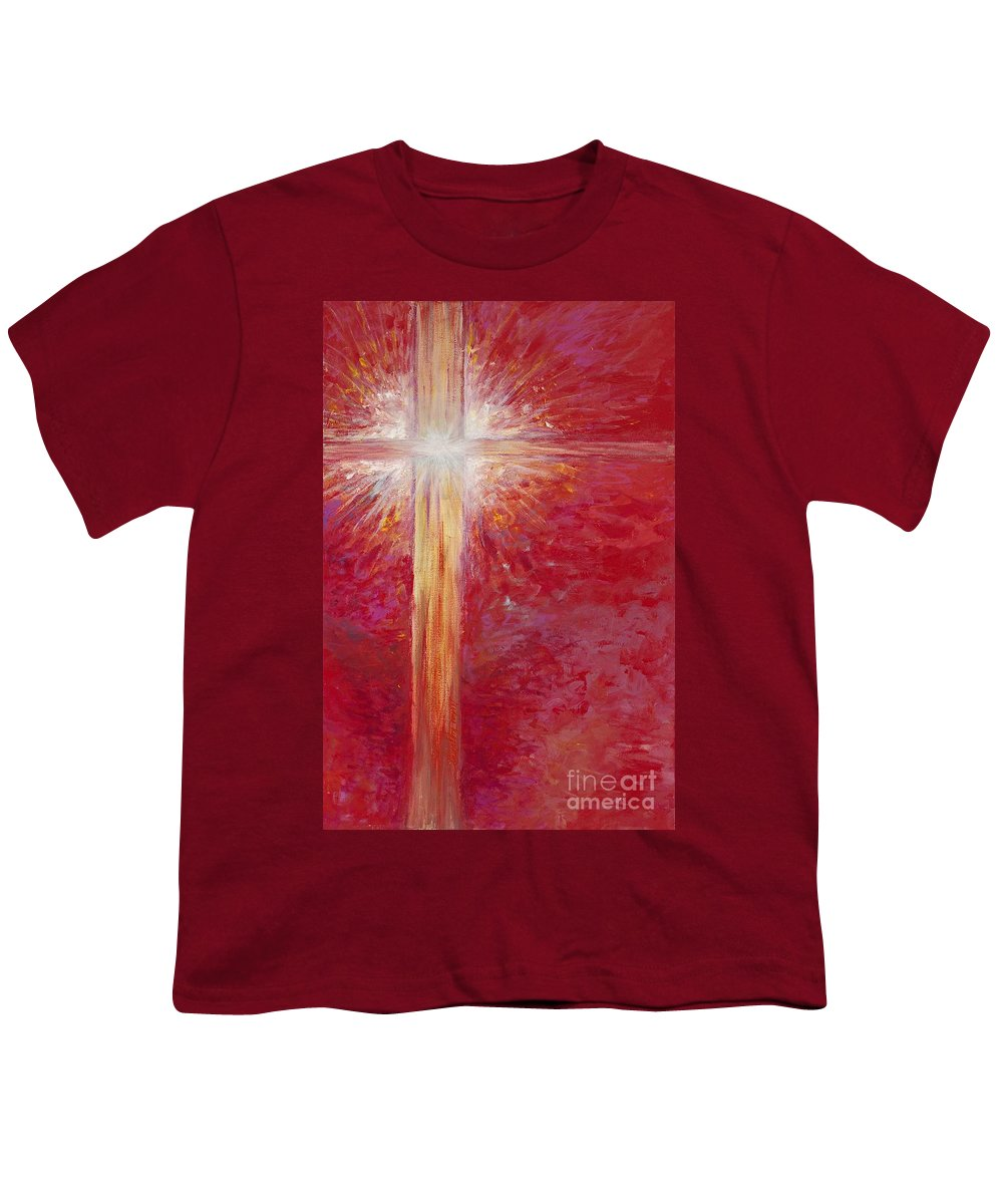 Light Youth T-Shirt featuring the painting Pure Light by Nadine Rippelmeyer
