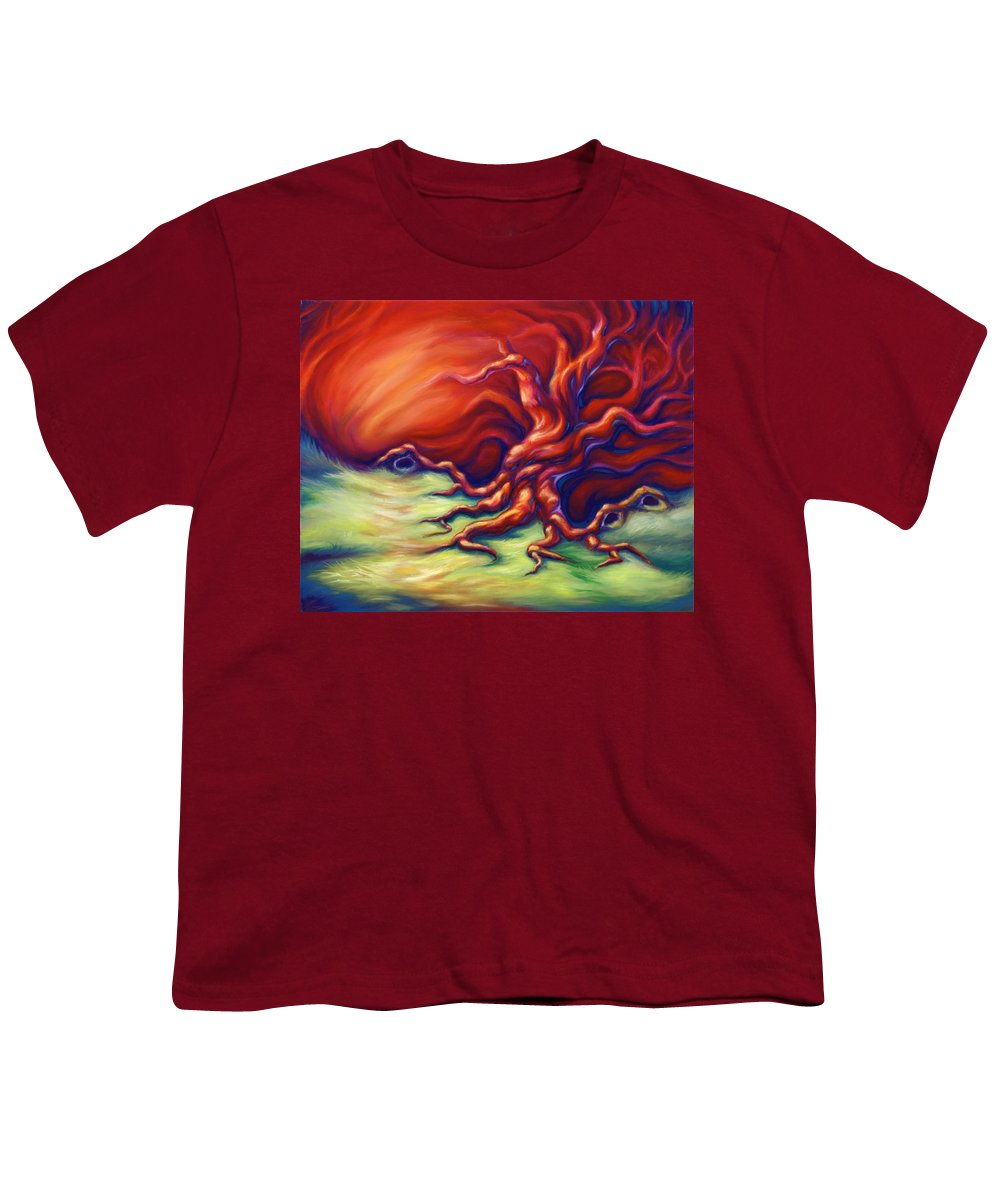 Oil Painting Youth T-Shirt featuring the painting Quiet Place by Jennifer McDuffie