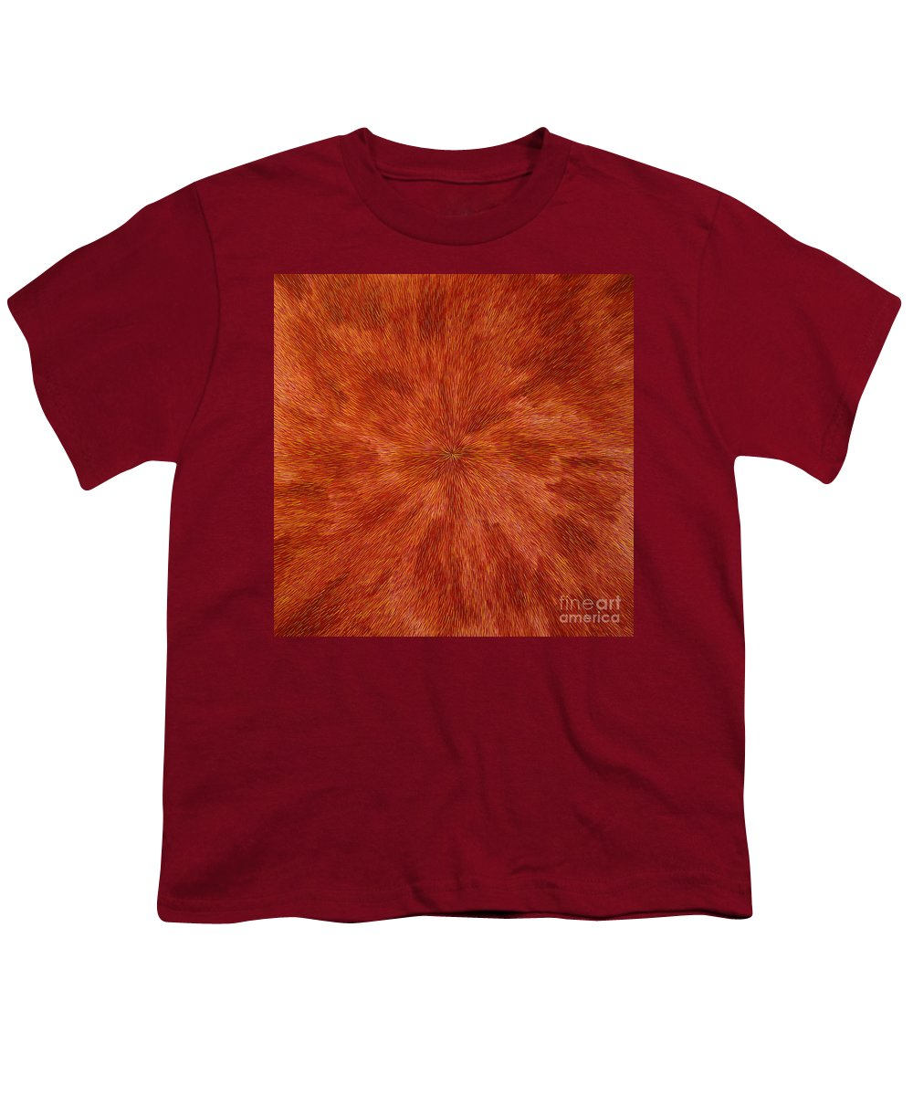Abstract Youth T-Shirt featuring the painting Radiation With Brown Yellow And Voilet by Dean Triolo