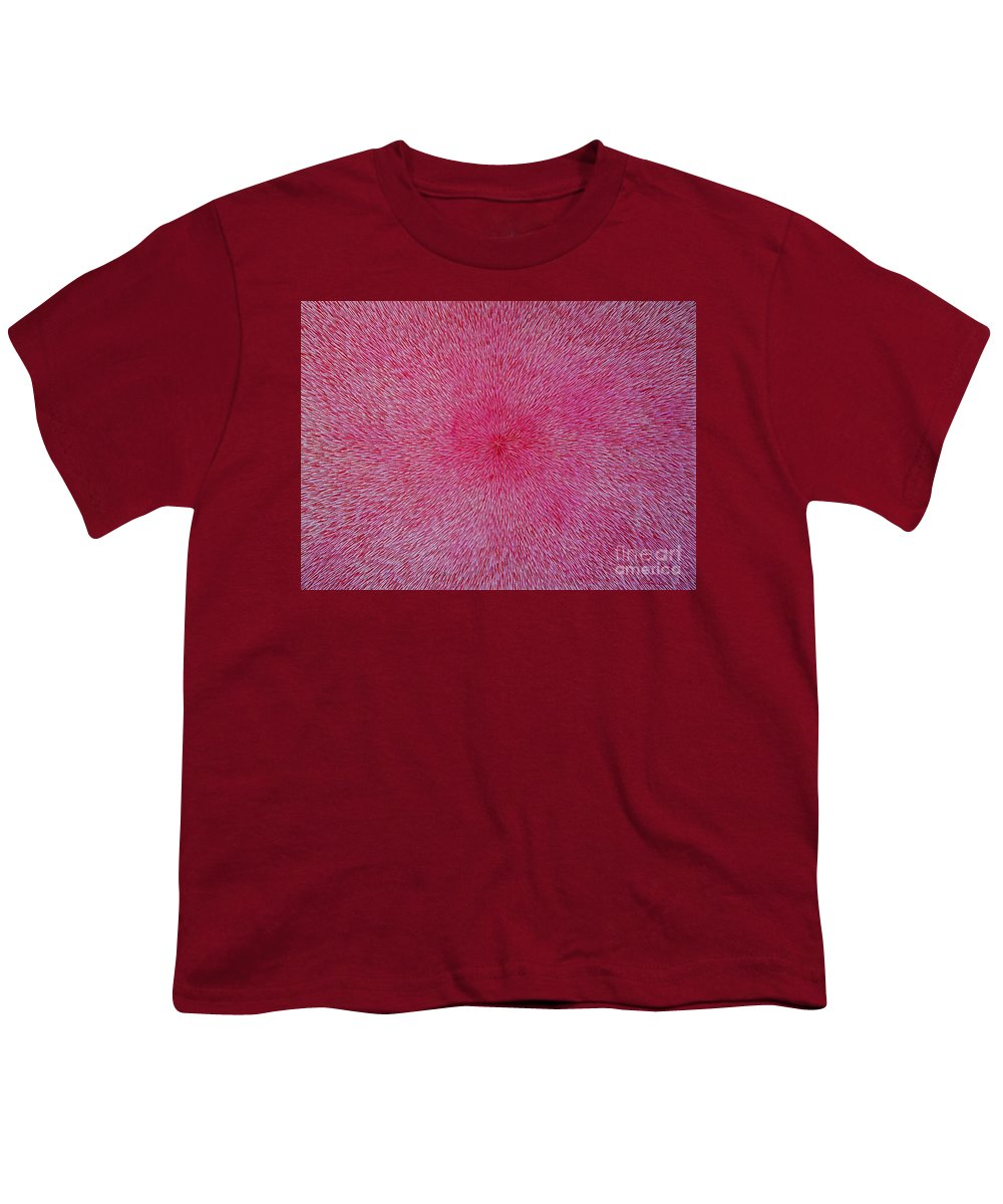 Abstract Youth T-Shirt featuring the painting Radiation With Pink And Magenta by Dean Triolo