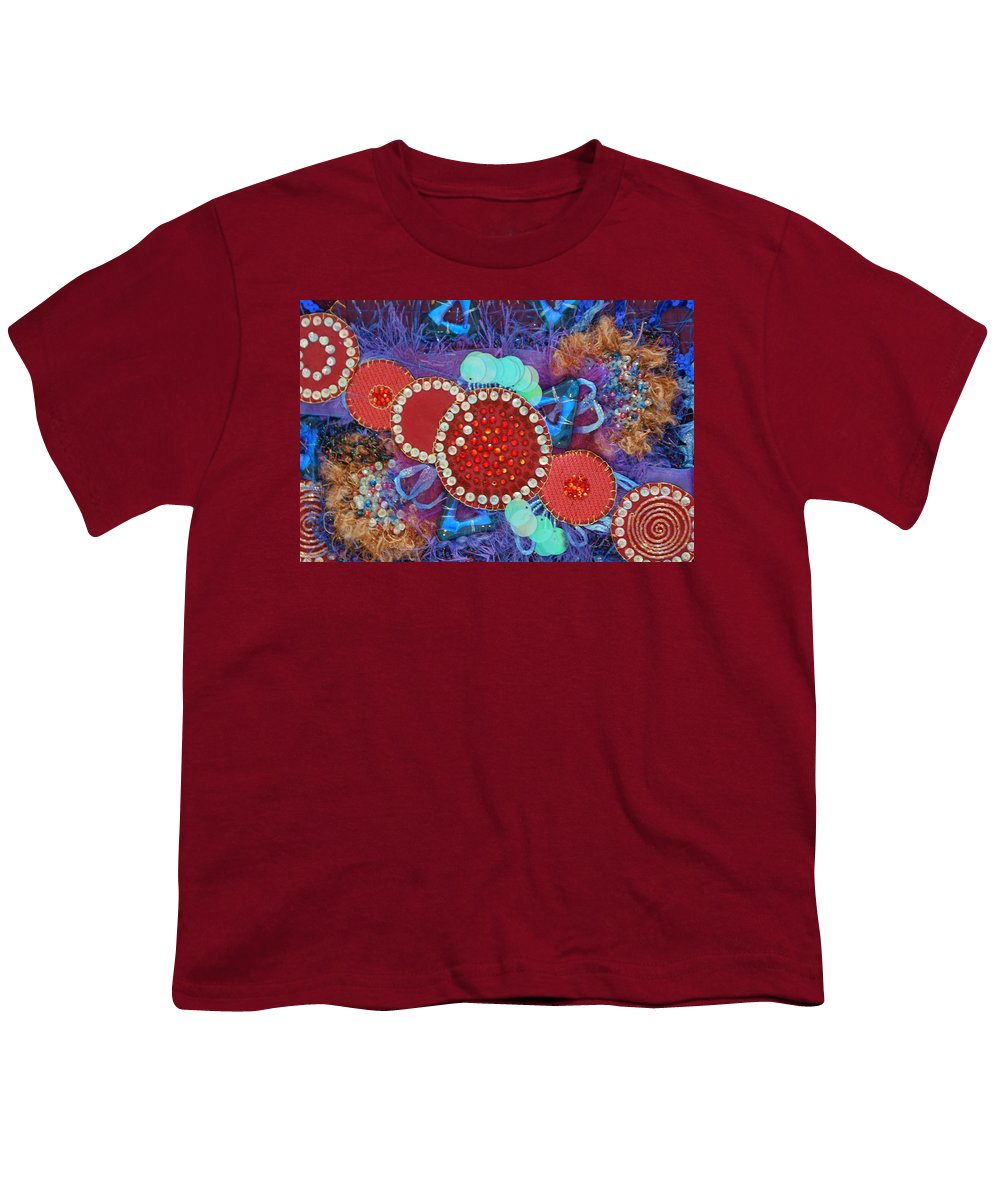 Youth T-Shirt featuring the mixed media Ruby Slippers 2 by Judy Henninger