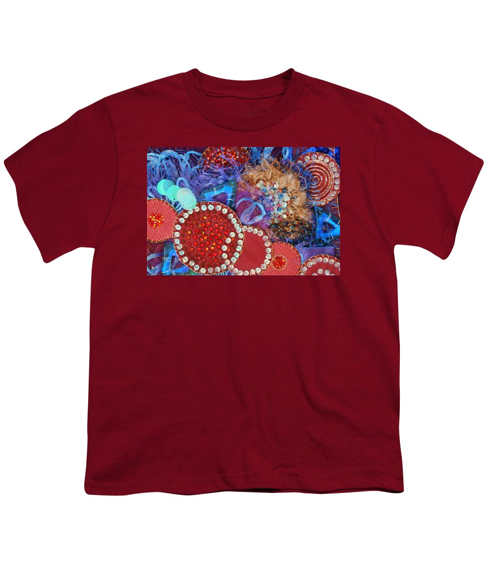 Youth T-Shirt featuring the mixed media Ruby Slippers 3 by Judy Henninger
