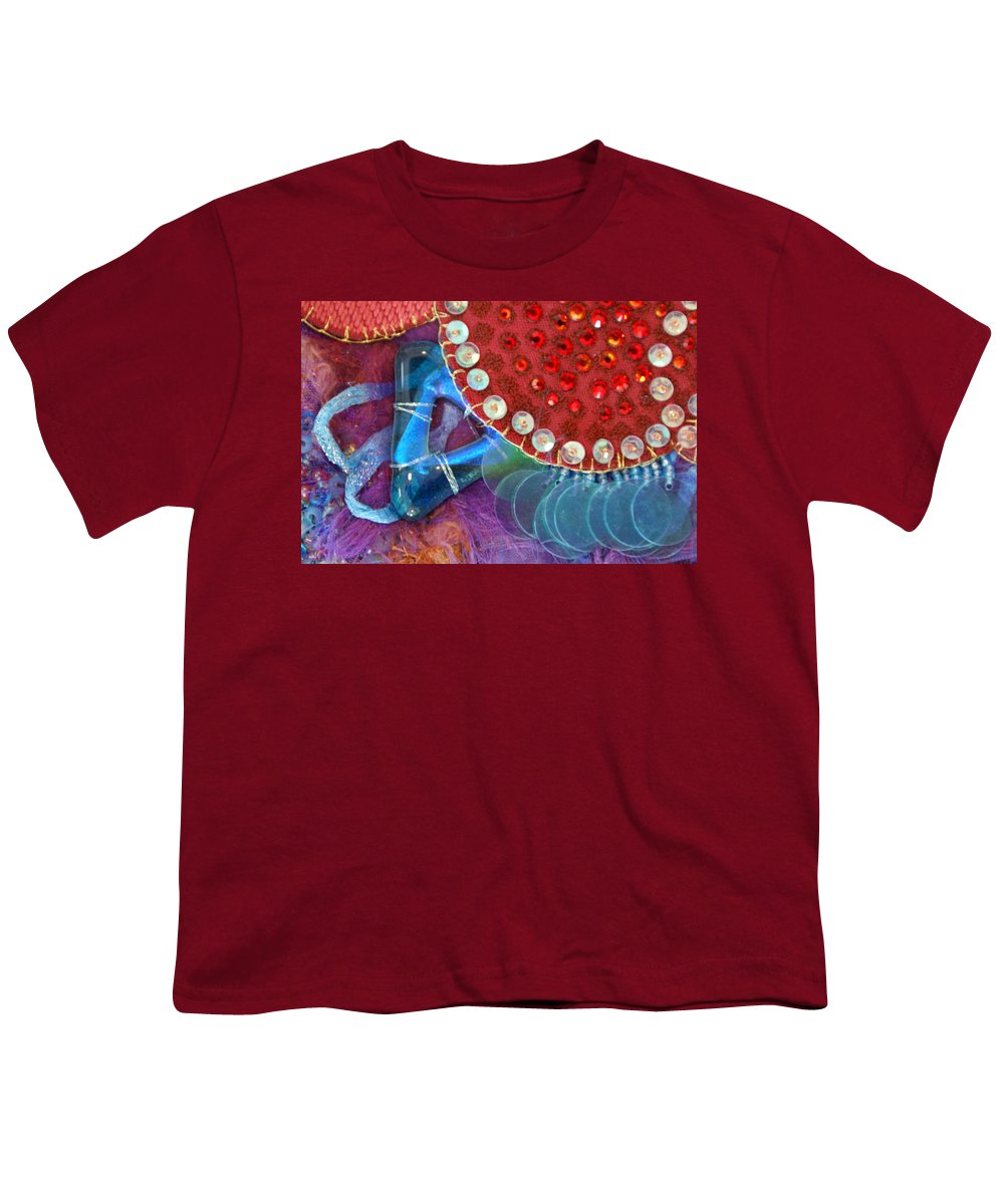 Youth T-Shirt featuring the mixed media Ruby Slippers 4 by Judy Henninger