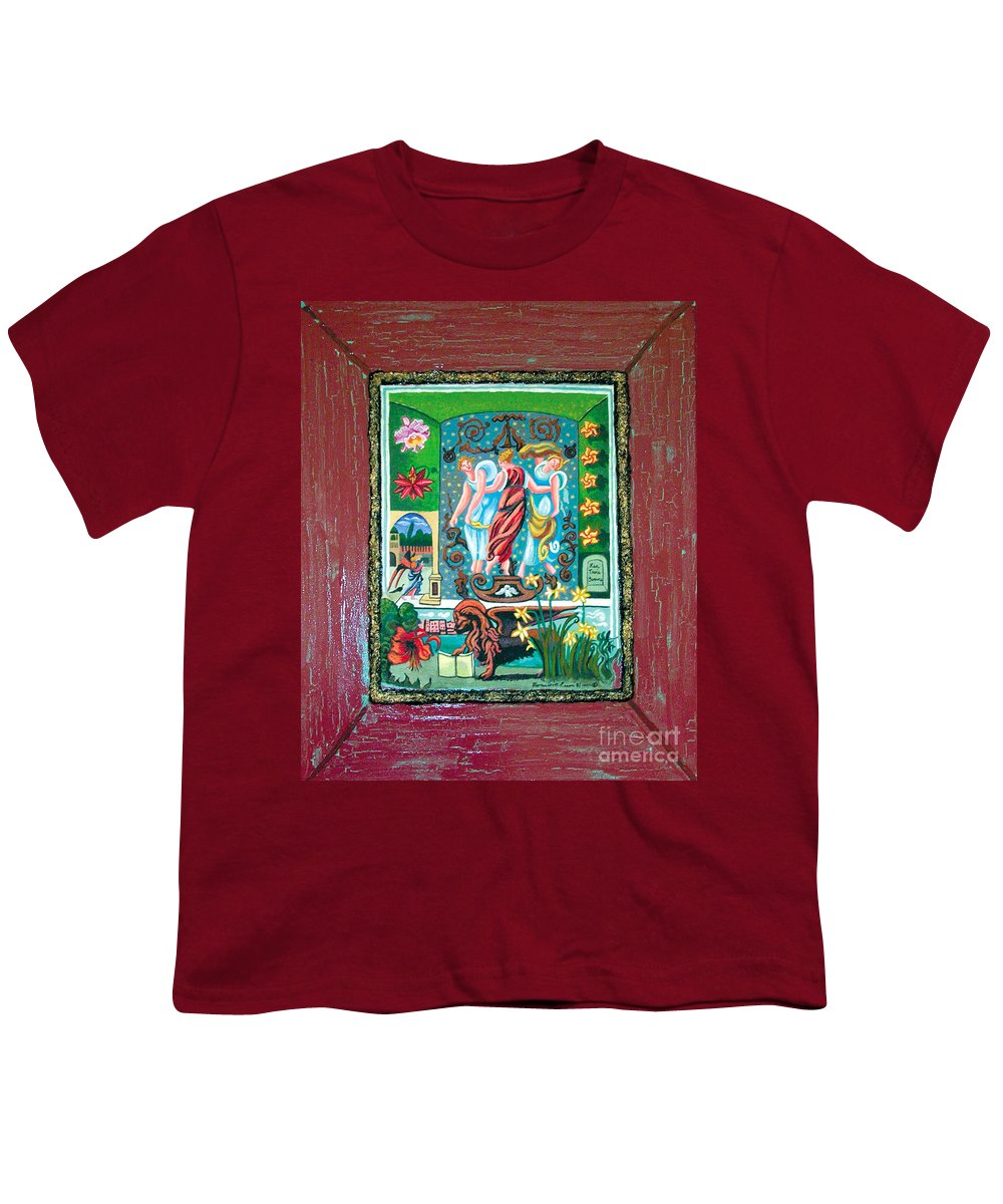 Women Youth T-Shirt featuring the painting The Three Sisters by Genevieve Esson