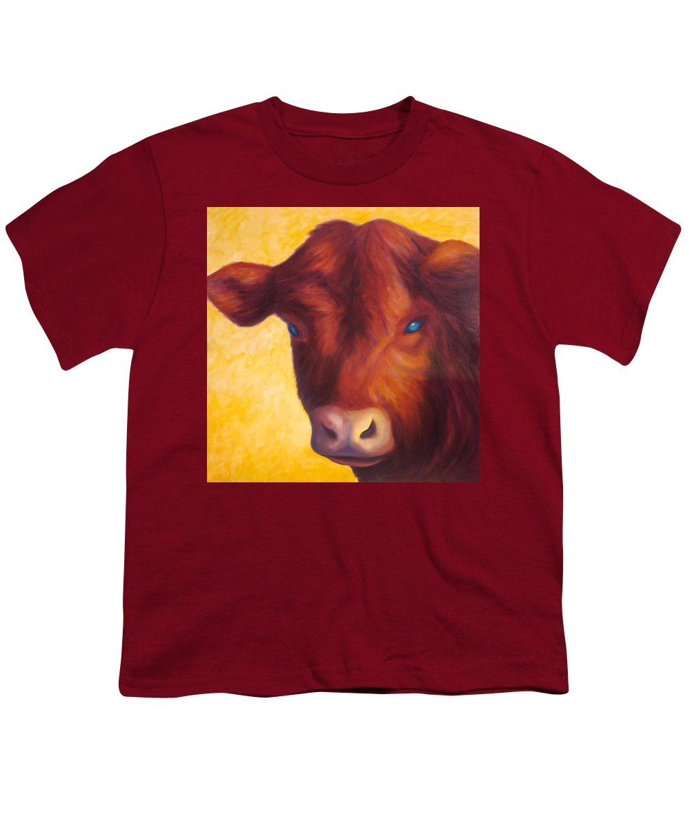Bull Youth T-Shirt featuring the painting Vern by Shannon Grissom