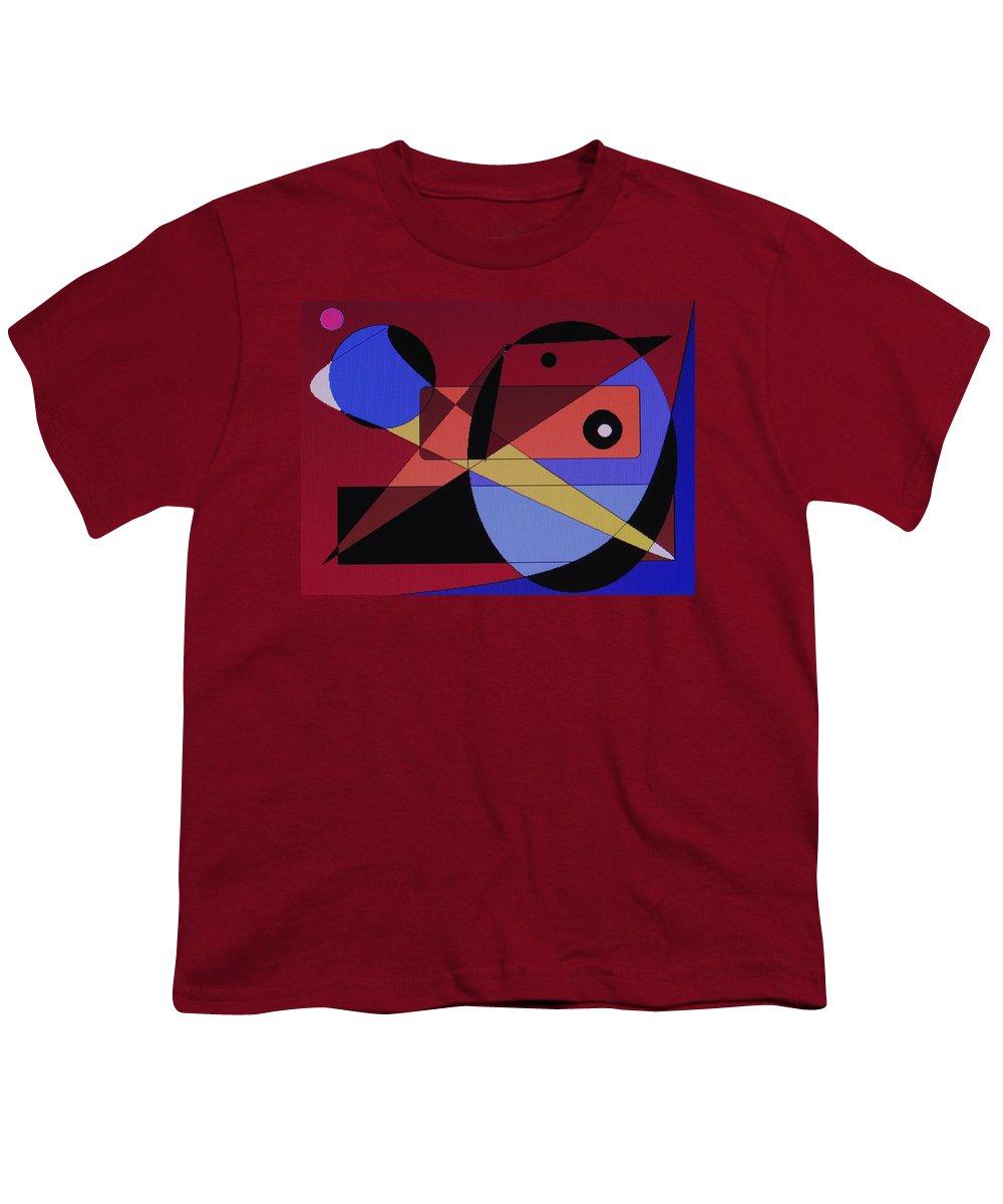 Abstract Bird Youth T-Shirt featuring the digital art Wild Bird by Ian MacDonald