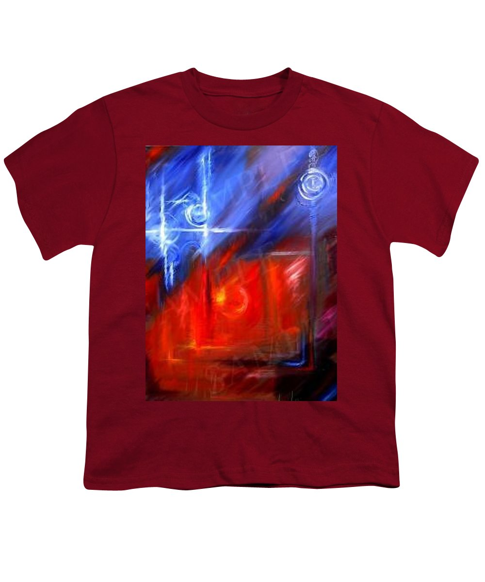 Abstracts Youth T-Shirt featuring the painting Windows by James Christopher Hill