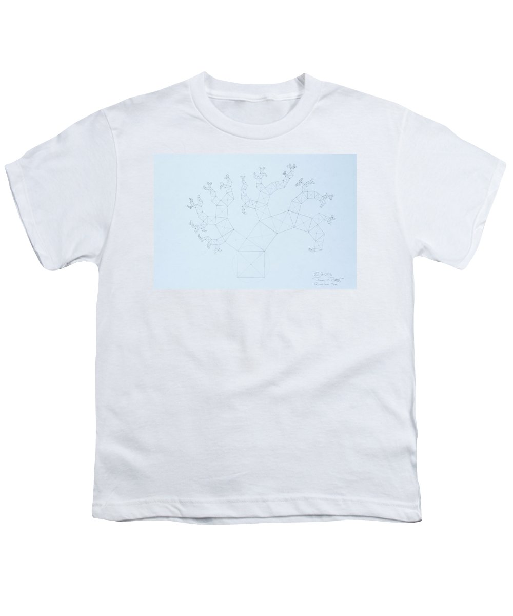 Fractal Tree Youth T-Shirt featuring the drawing Quantum Tree by Jason Padgett