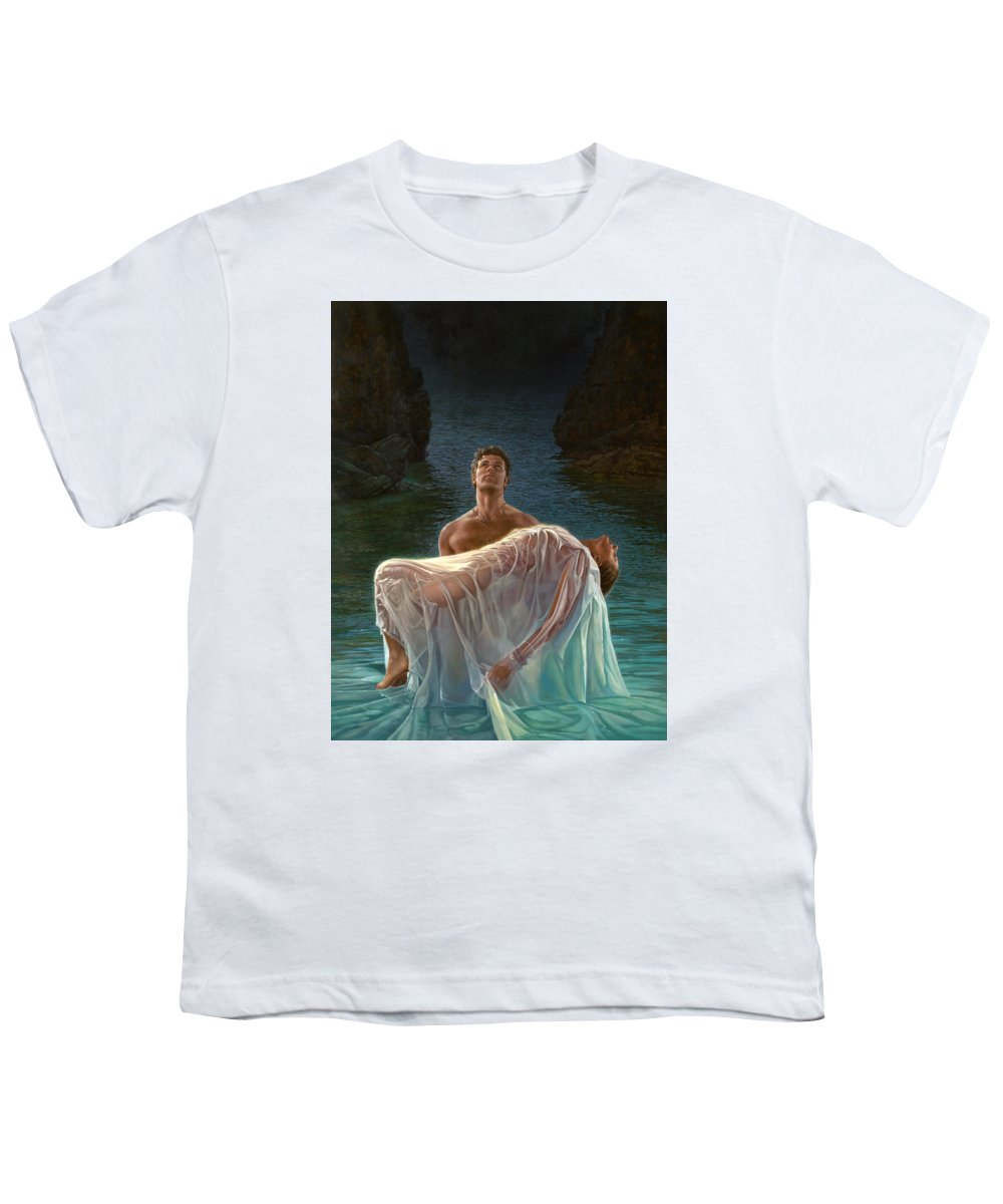 Blue Youth T-Shirt featuring the painting Resurrection by Mia Tavonatti