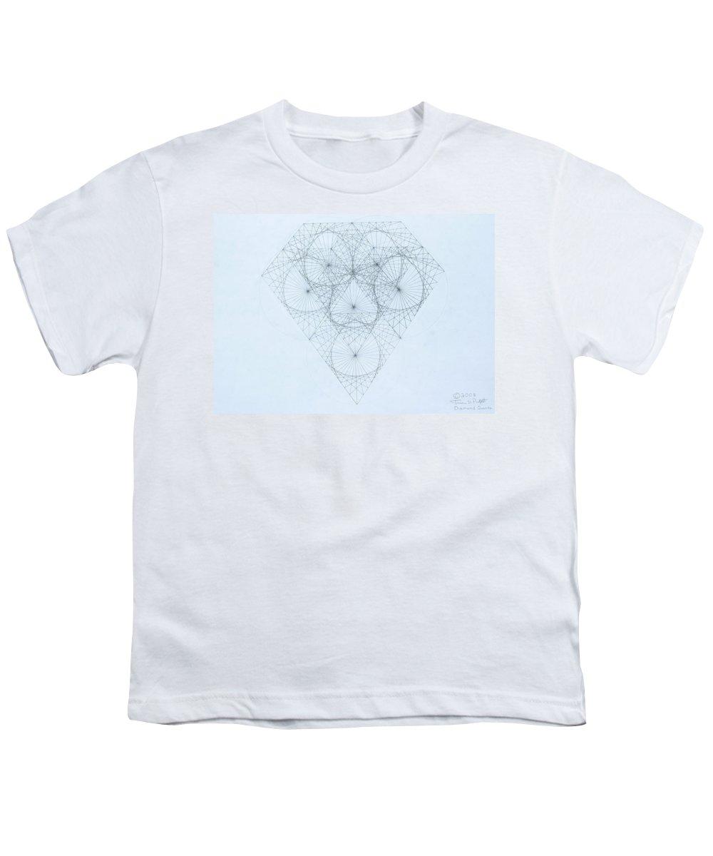 Jason Padgett Youth T-Shirt featuring the drawing Diamond Quanta by Jason Padgett