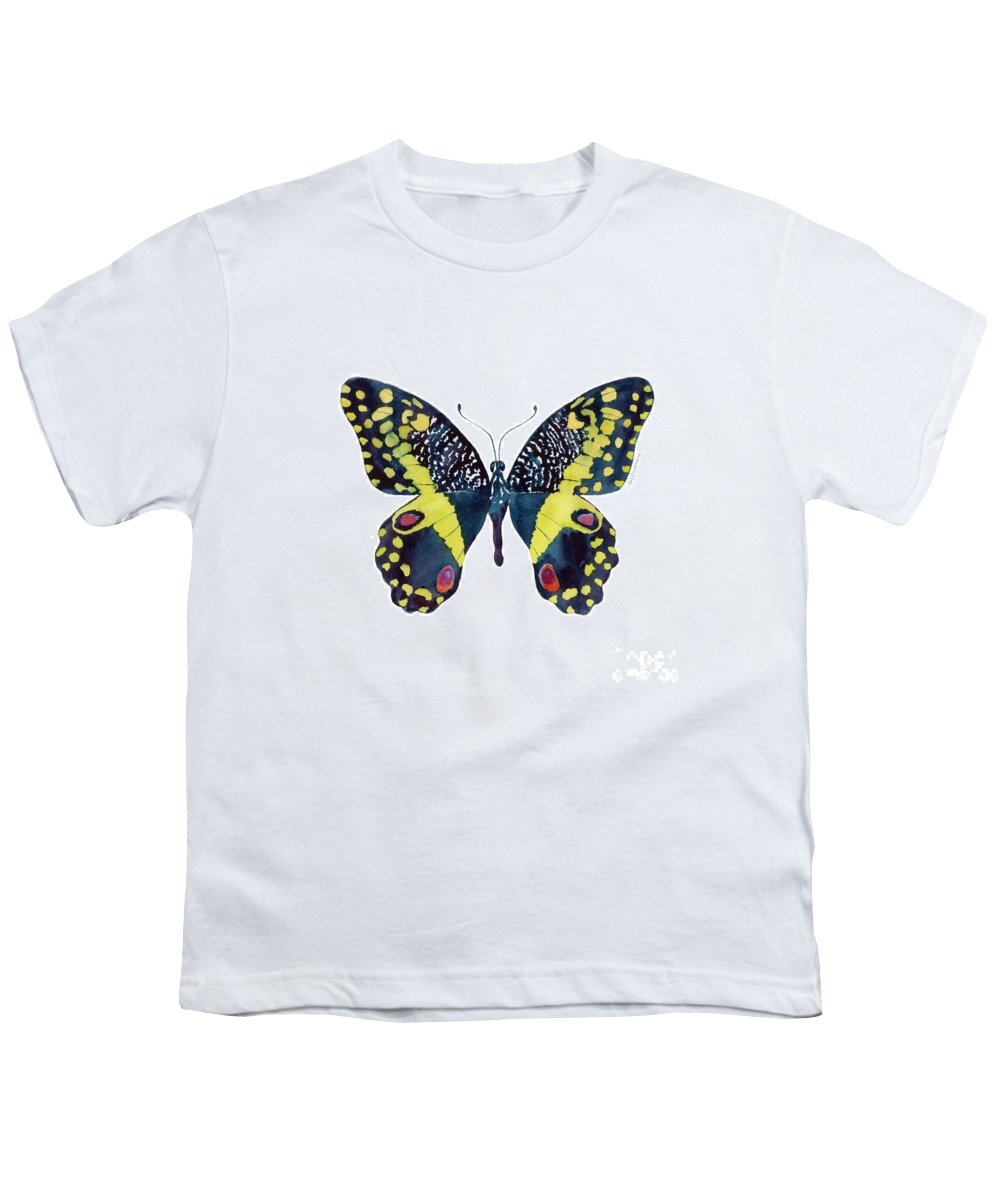 African Citrus Butterfly Youth T-Shirt featuring the painting 73 Citrus Butterfly by Amy Kirkpatrick