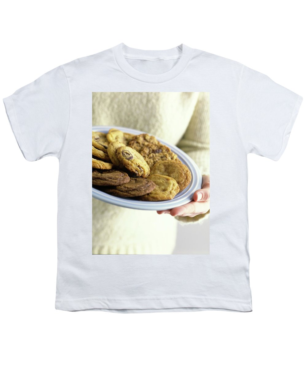 Cooking Youth T-Shirt featuring the photograph A Plate Of Cookies by Romulo Yanes