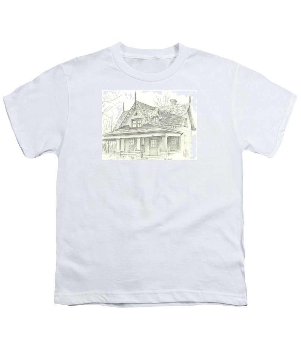 American Home Youth T-Shirt featuring the drawing American Home by Kip DeVore