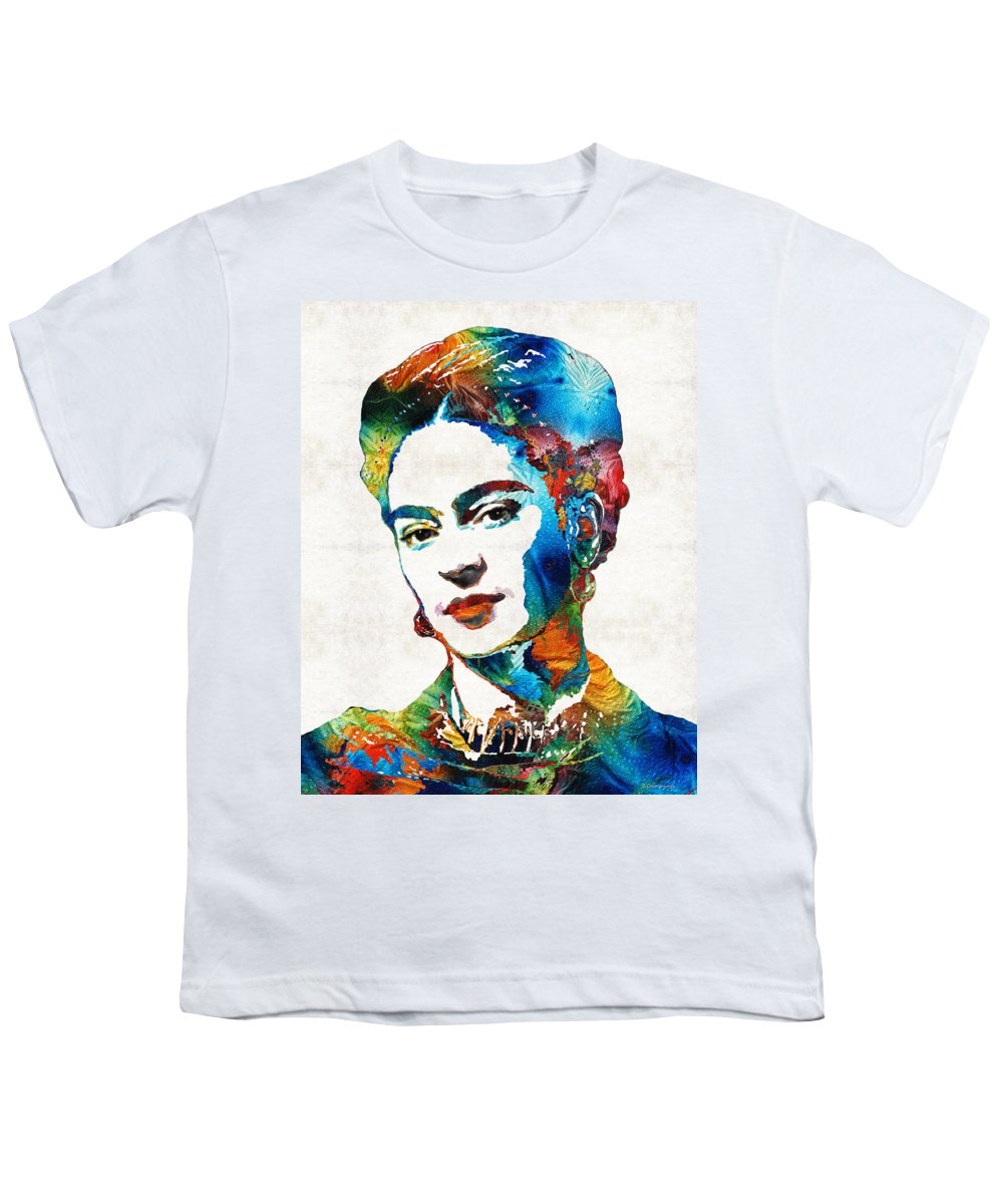 4239aee7 Frida Kahlo Art - Viva La Frida - By Sharon Cummings Youth T-Shirt for Sale  by Sharon Cummings