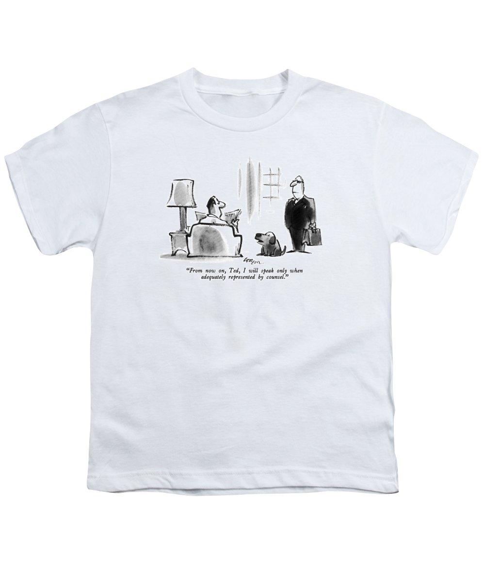 Dog Youth T-Shirt featuring the drawing From Now by Lee Lorenz