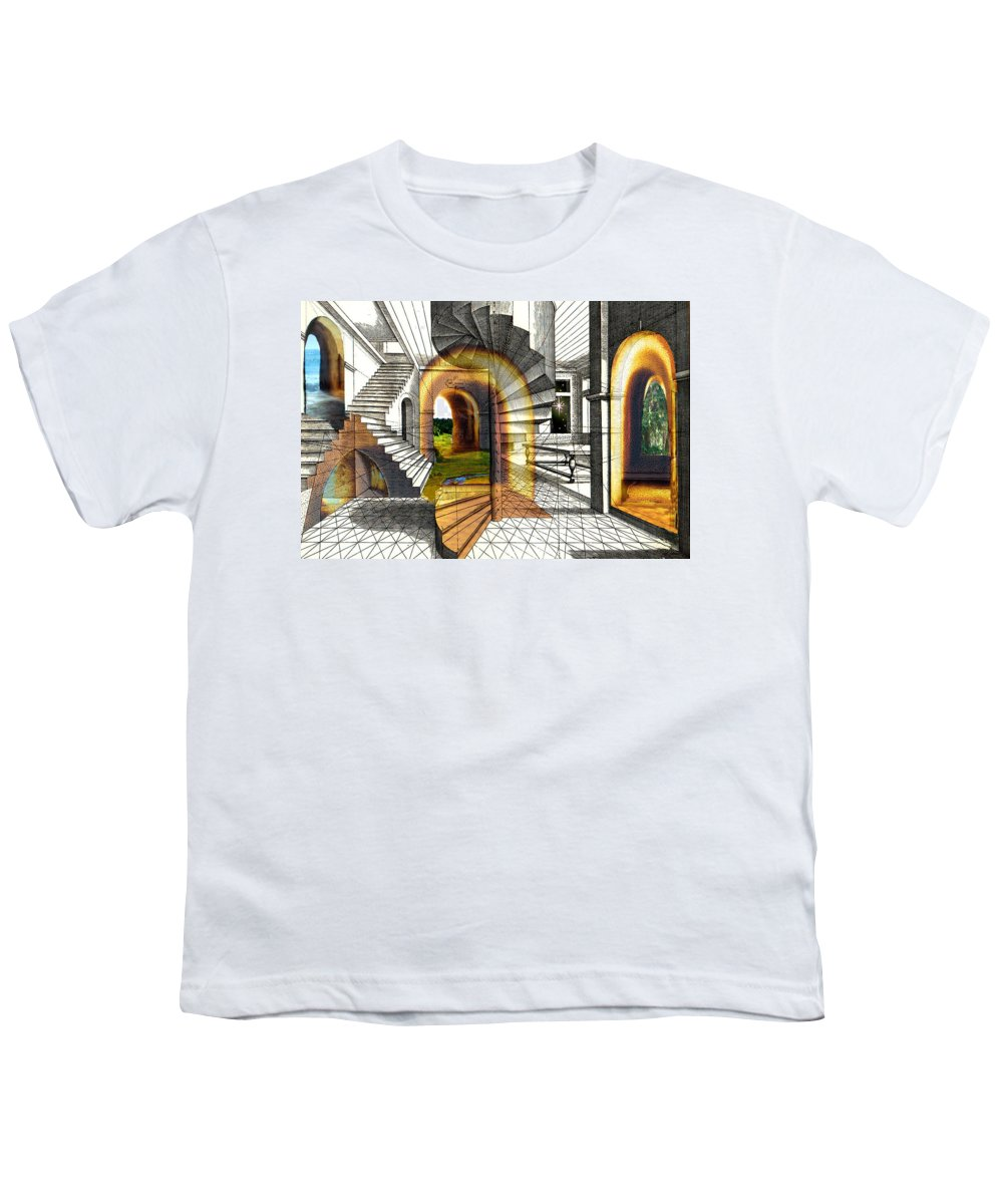 House Youth T-Shirt featuring the digital art House Of Dreams by Lisa Yount