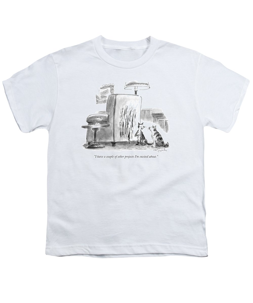 Artists Youth T-Shirt featuring the drawing I Have A Couple Of Other Projects I'm Excited by Mike Twohy