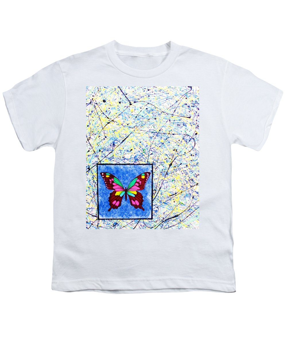 Abstract Youth T-Shirt featuring the painting Imperfect I by Micah Guenther