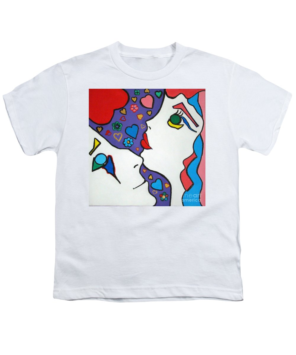 Pop-art Youth T-Shirt featuring the painting In Love by Silvana Abel