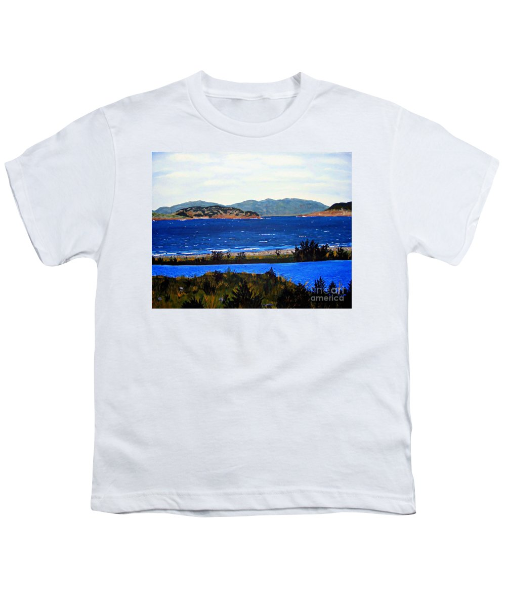Islands Youth T-Shirt featuring the painting Iona formerly Rams Islands by Barbara Griffin