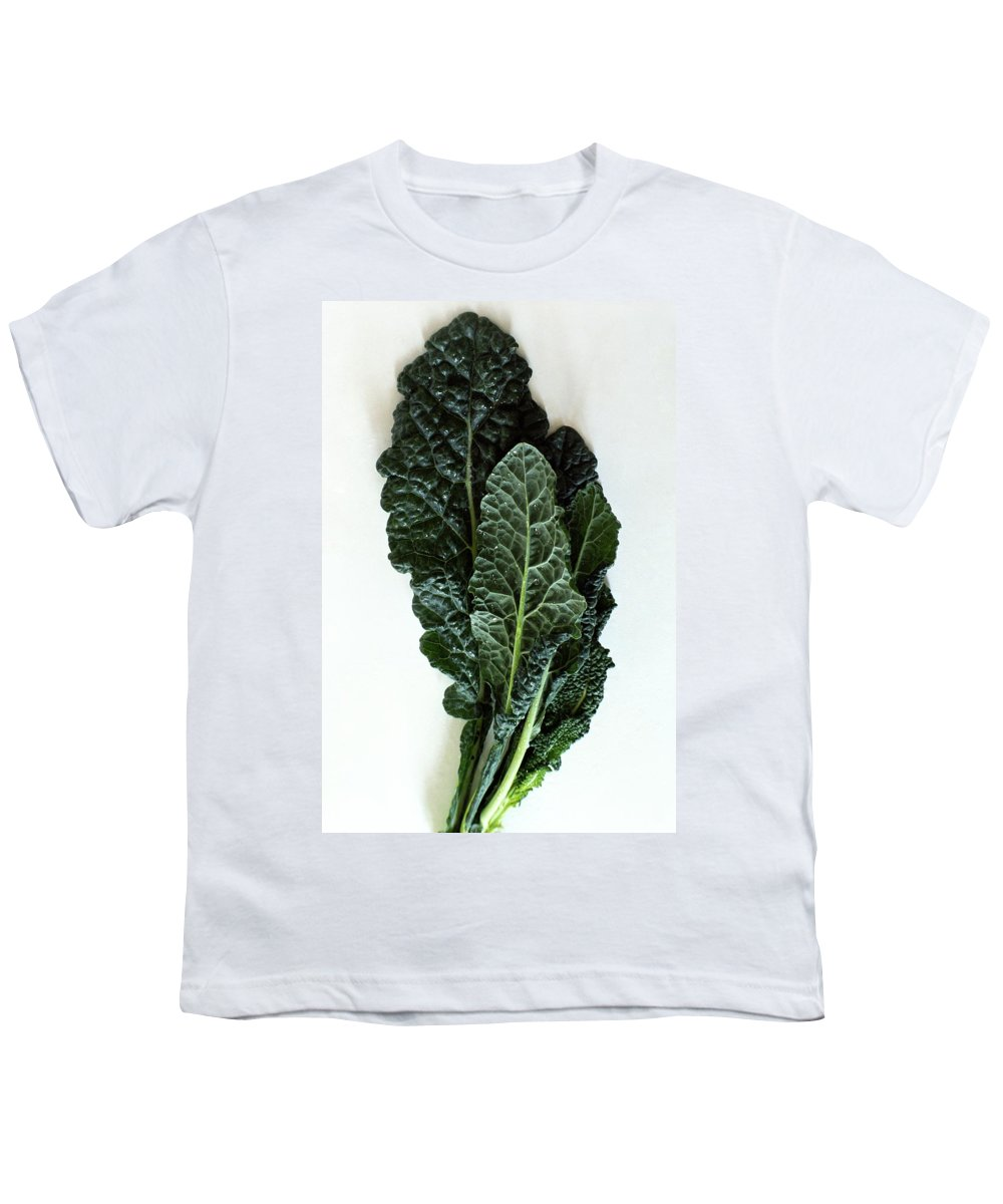 Food Youth T-Shirt featuring the photograph Lacinato Kale by Romulo Yanes