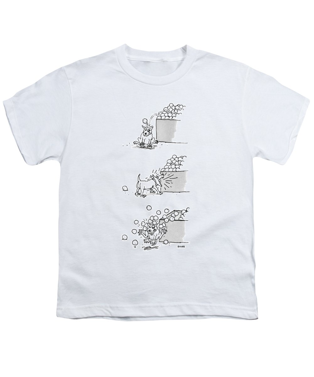 Captionless Youth T-Shirt featuring the drawing New Yorker April 4th, 1988 by George Booth