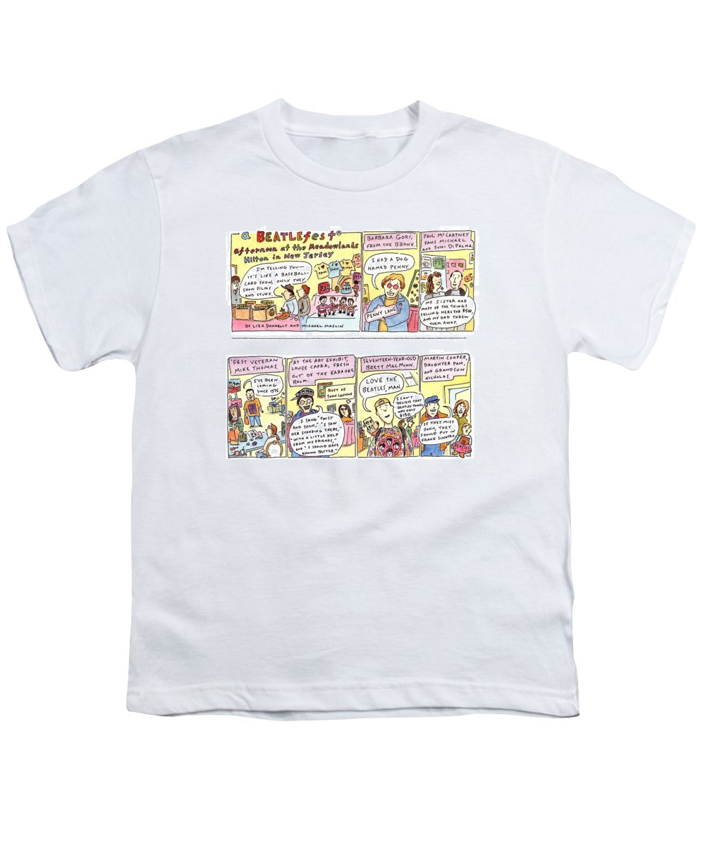 Music Youth T-Shirt featuring the drawing New Yorker April 4th, 1994 by Liza Donnelly