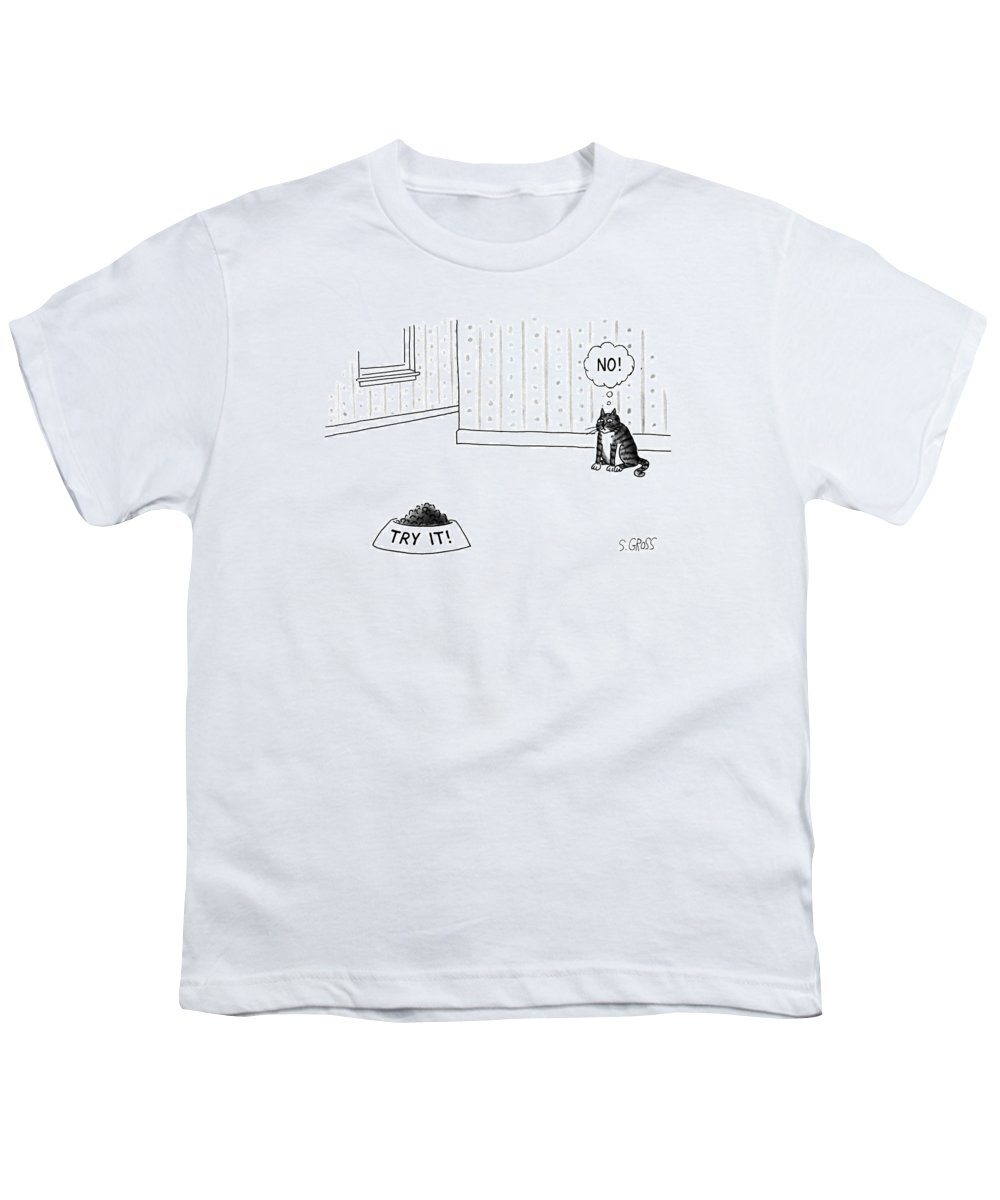 No Caption Youth T-Shirt featuring the drawing New Yorker June 17th, 1991 by Sam Gross