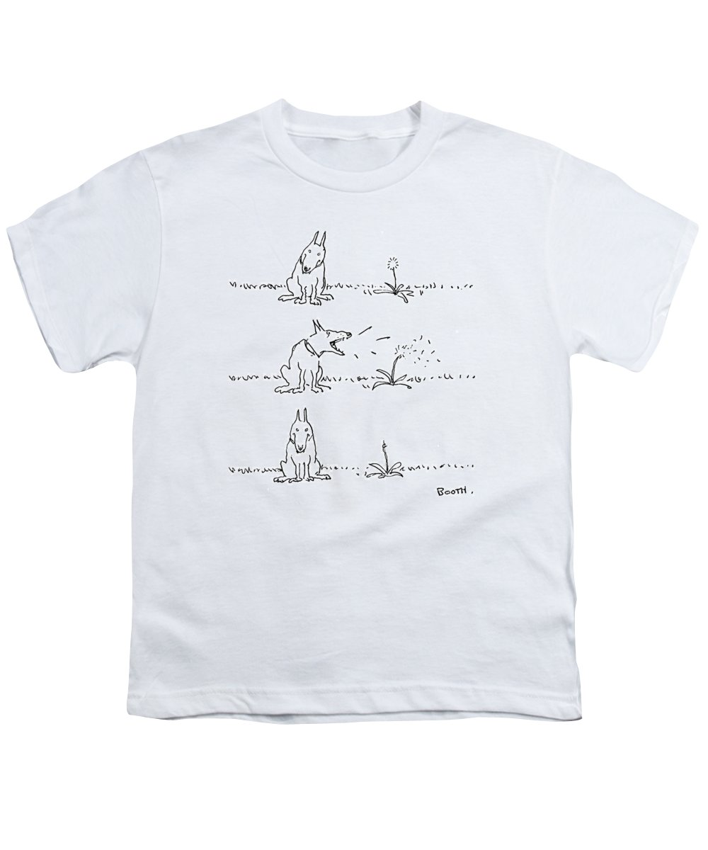 No Caption Youth T-Shirt featuring the drawing New Yorker May 22nd, 1978 by George Booth