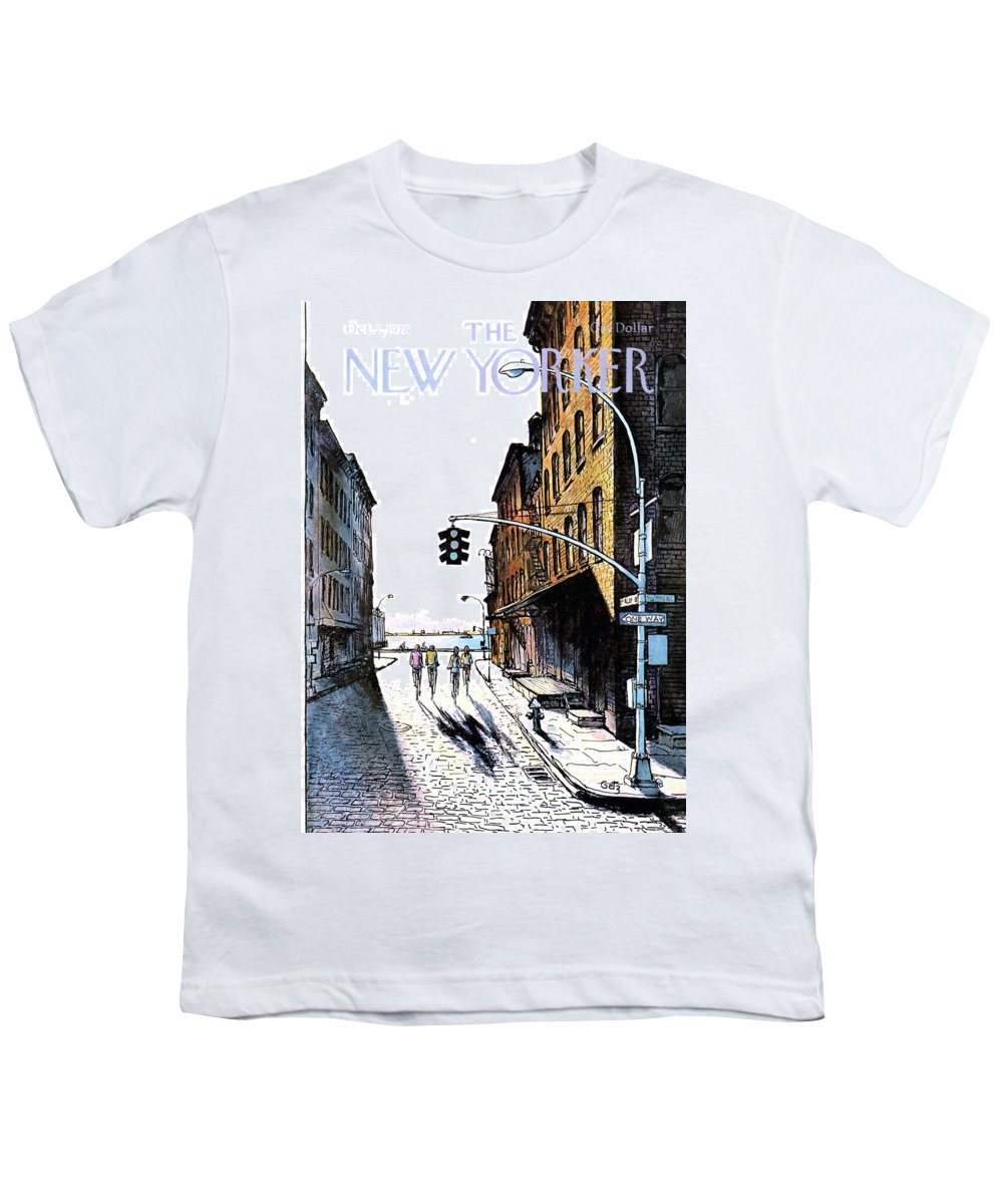 People Youth T-Shirt featuring the painting New Yorker October 2nd, 1978 by Arthur Getz