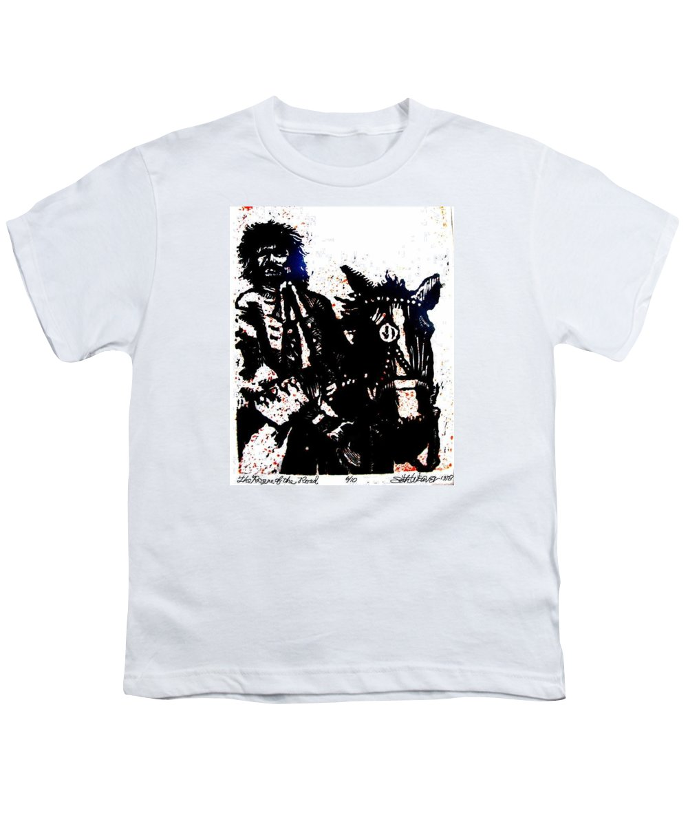 English Highwayman Youth T-Shirt featuring the mixed media Rogue Of The Road by Seth Weaver