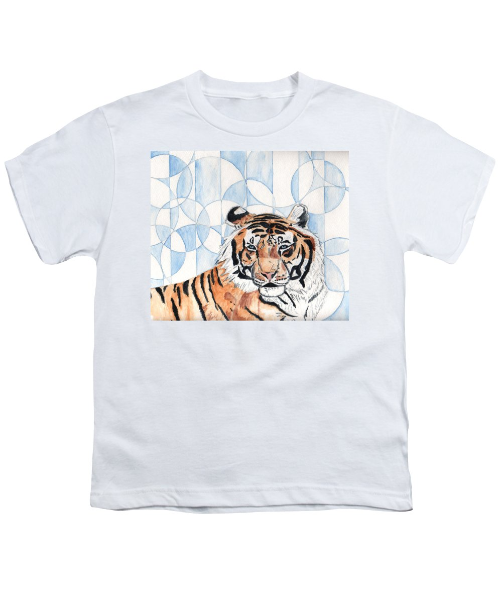 Tiger Youth T-Shirt featuring the painting Royal Mysticism by Crystal Hubbard