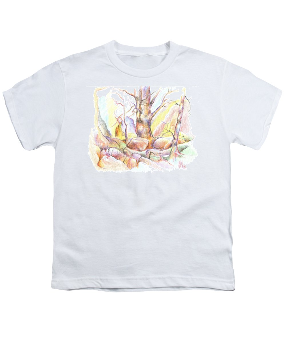 Softly Speaking Youth T-Shirt featuring the painting Softly Speaking by Kip DeVore