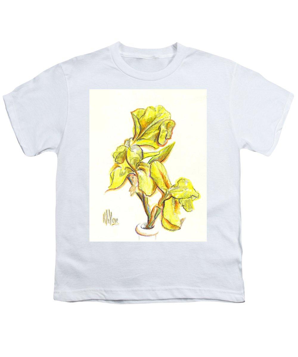Spanish Irises Youth T-Shirt featuring the painting Spanish Irises by Kip DeVore