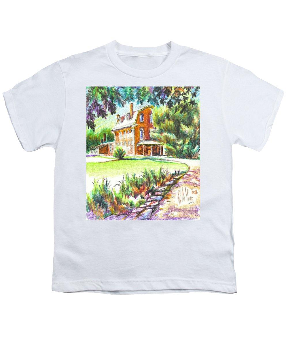 Summertime At Ursuline No C101 Youth T-Shirt featuring the painting Summertime At Ursuline No C101 by Kip DeVore