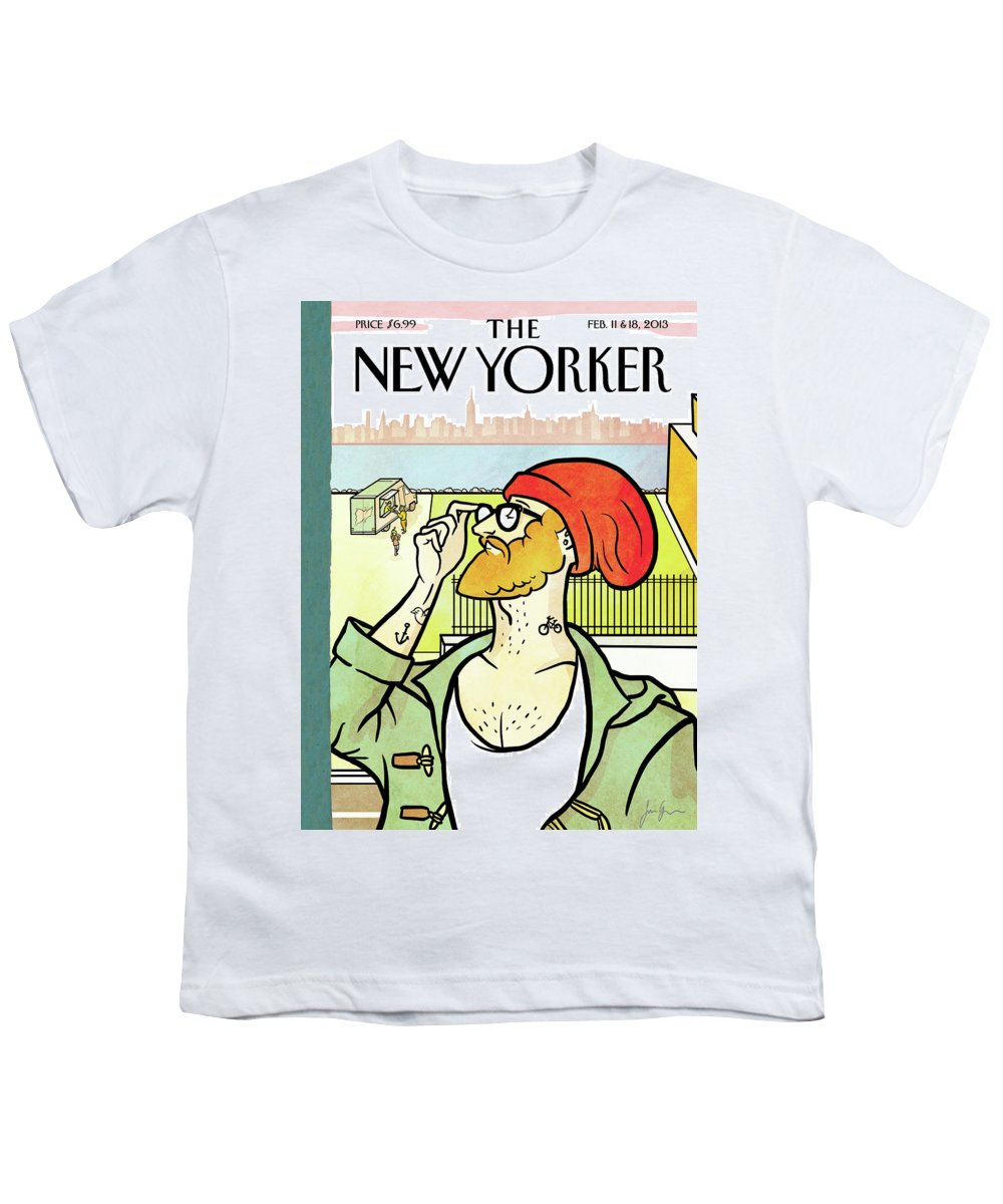 Brooklyn's Eustace Youth T-Shirt featuring the painting Brooklyn's Eustace by Simon Greiner