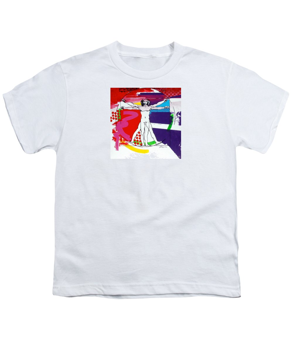 Classic Youth T-Shirt featuring the painting Vetruvian by Jean Pierre Rousselet