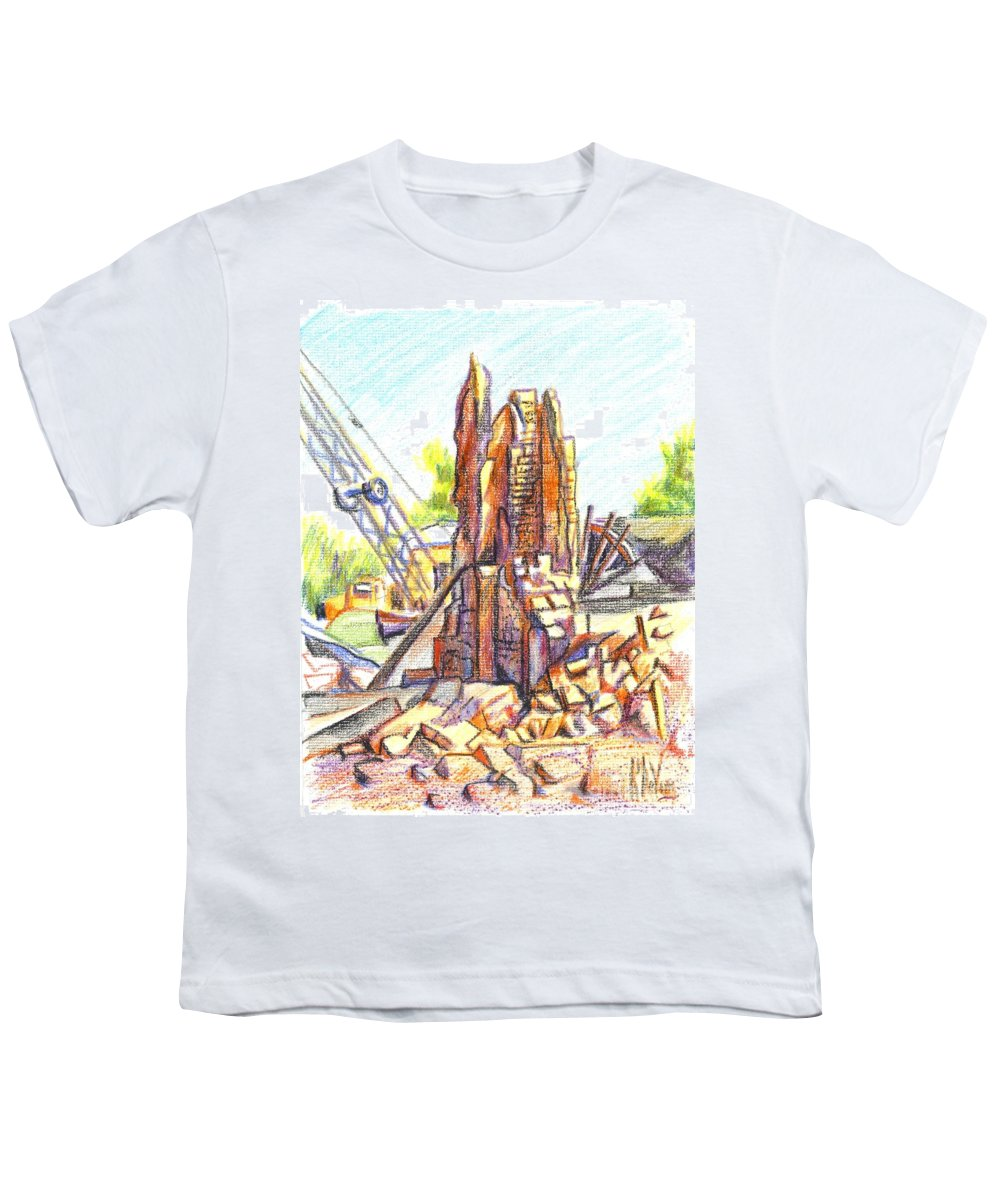 Wrecking Ball Youth T-Shirt featuring the painting Wrecking Ball by Kip DeVore