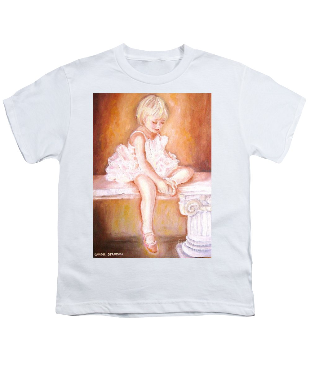 Ballerinas Youth T-Shirt featuring the painting The Little Ballerina by Carole Spandau