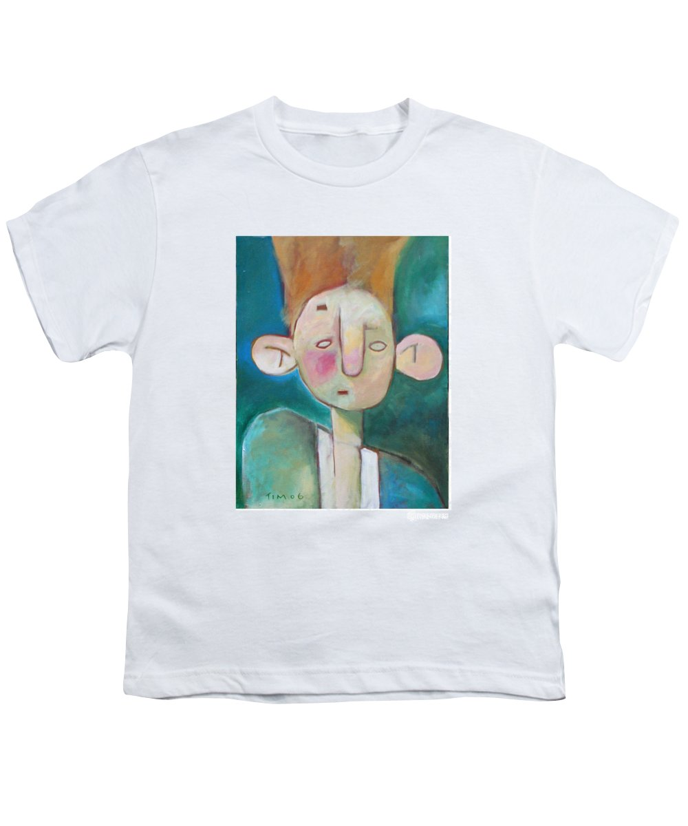 Funny Youth T-Shirt featuring the painting Bad Hair Life by Tim Nyberg