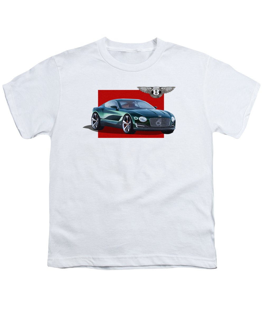 �bentley� Collection By Serge Averbukh Youth T-Shirt featuring the photograph Bentley E X P 10 Speed 6 With 3 D Badge by Serge Averbukh