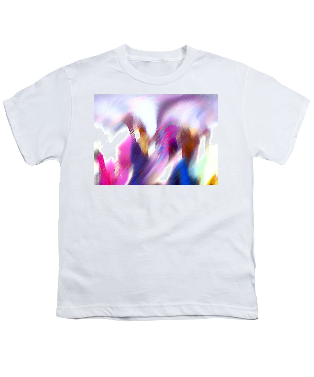 Digital Media Youth T-Shirt featuring the painting Color Dance by Anil Nene