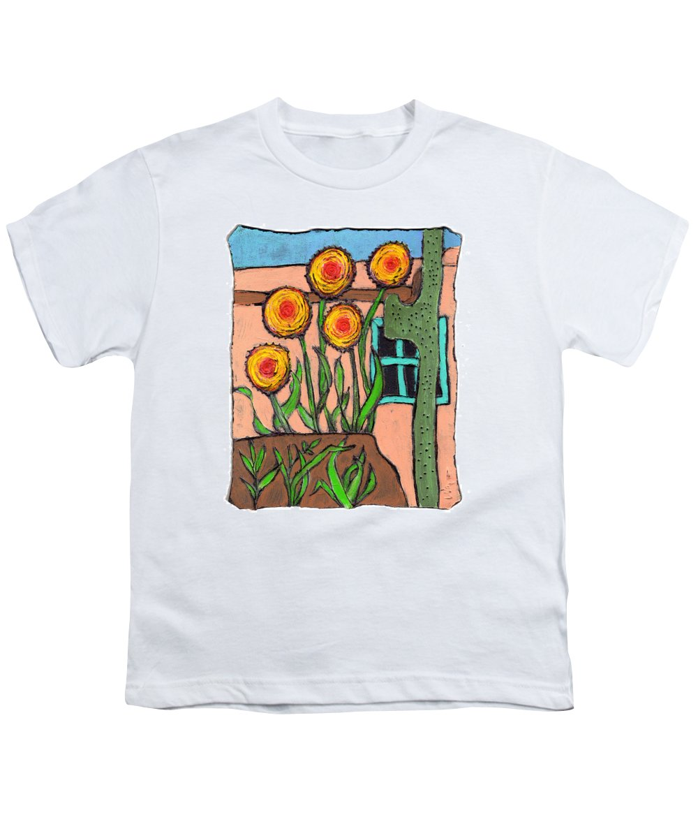 Desert Youth T-Shirt featuring the painting Desert Fantasy by Wayne Potrafka