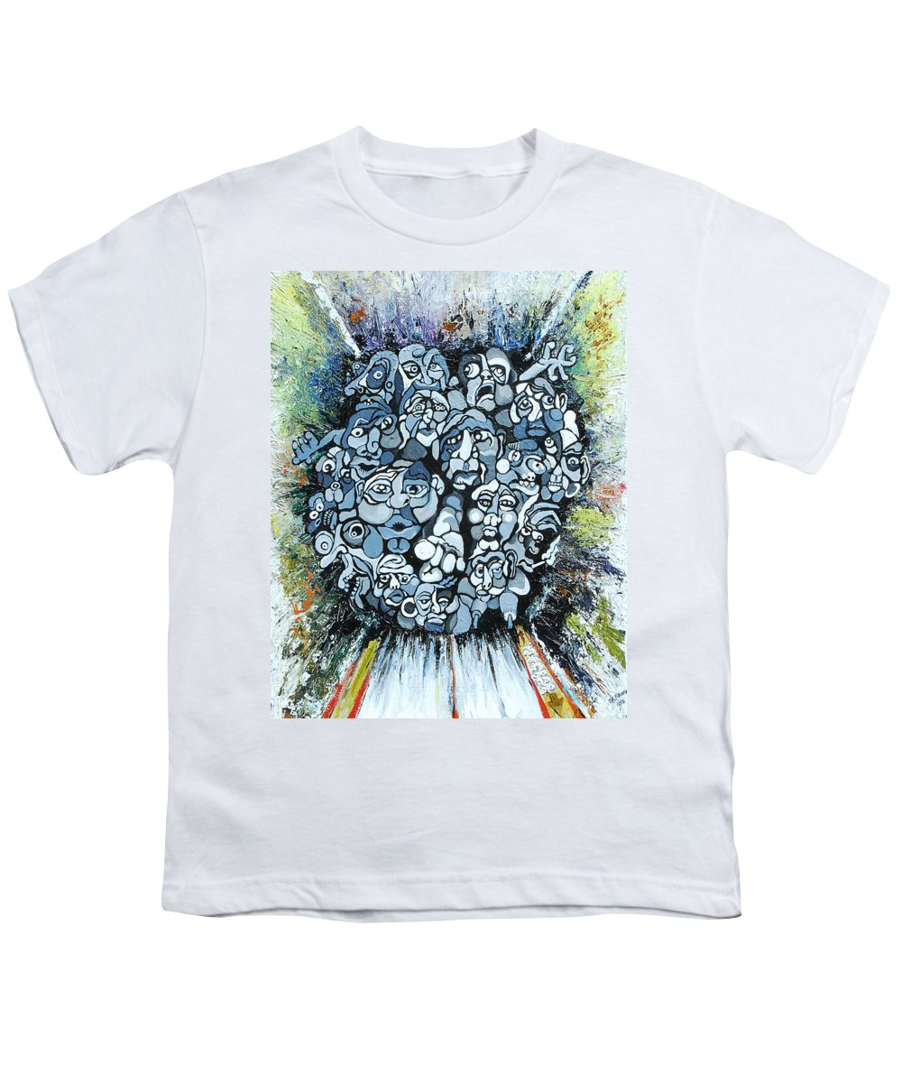 Surreal Youth T-Shirt featuring the painting Elevator by Julie Fischer